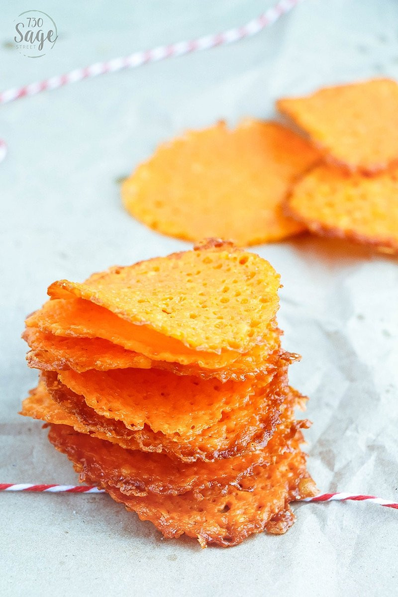 Low Carb Chips And Crackers  Low Carb Garlic Cheddar Cheese Crisps 730 Sage Street