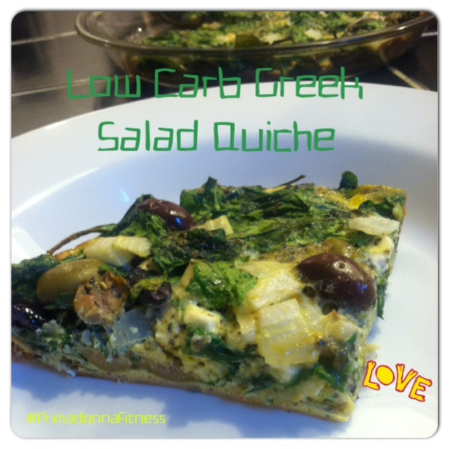 Low Carb Clean Eating  Clean Eating Low Carb Greek Salad Quiche