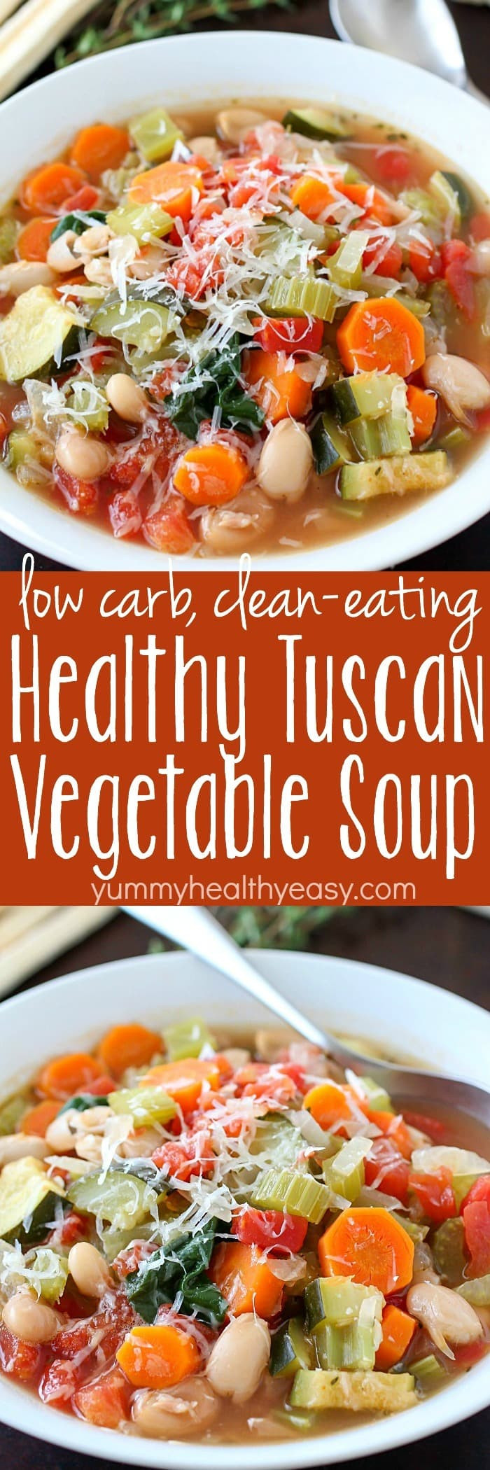 Low Carb Clean Eating  Healthy Tuscan Ve able Soup Yummy Healthy Easy