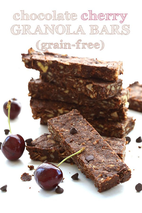 Low Carb Cocoa Powder  Low Carb Grain Free Chocolate Cherry Granola Bars