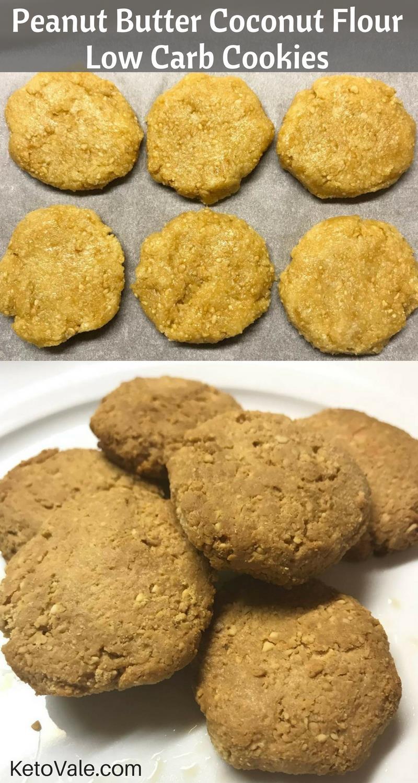 Low Carb Coconut Flour Cookie Recipes  low carb peanut butter cookies coconut flour
