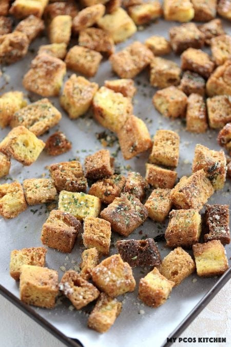 Low Carb Croutons  Keto Low Carb Gluten Free Garlic Croutons Paleo Option