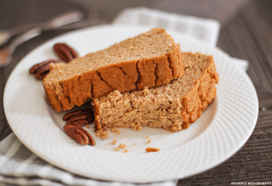 Low Carb Dairy Free Desserts  Desserts With Benefits Healthy Pumpkin Cake Loaf recipe