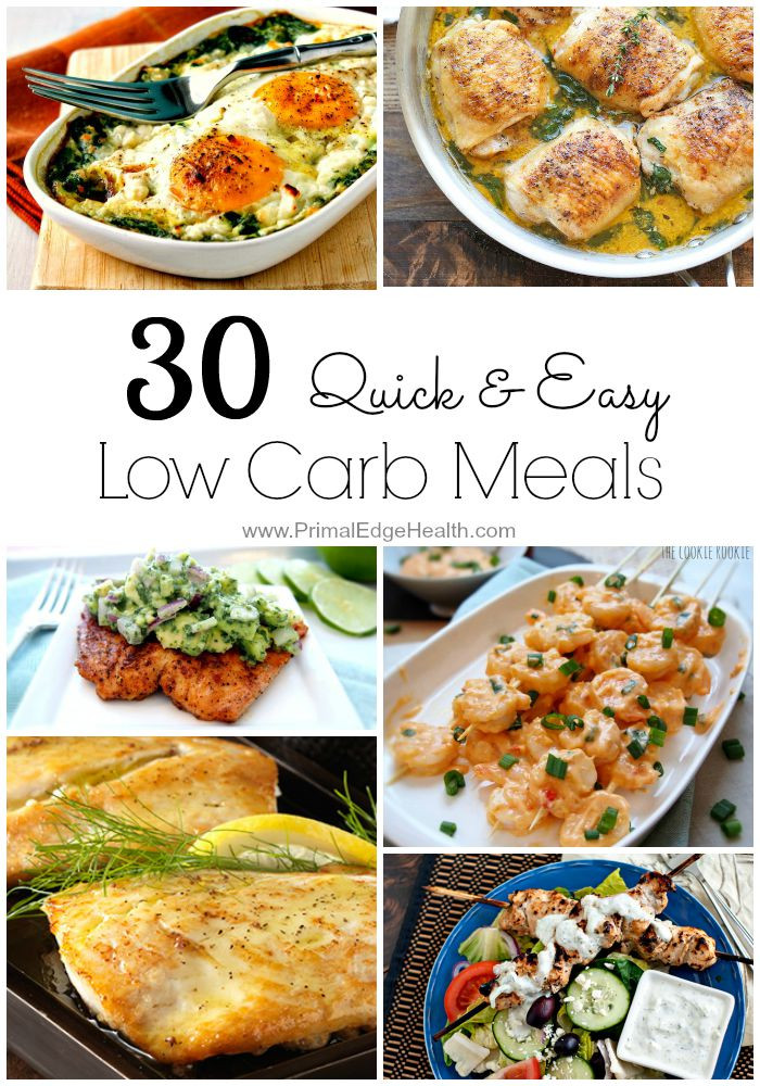 Low Carb Dinner  30 Quick & Easy Low Carb Meals Primal Edge Health