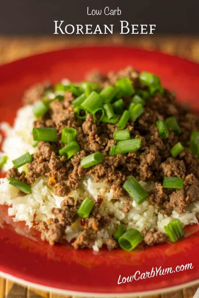 Low Carb Dinner With Ground Beef  Korean Beef Paleo and Low Carb