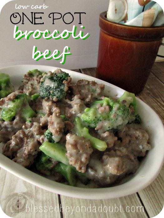 Low Carb Dinner With Ground Beef  e Pot Low Carb Beef Broccoli Recipe