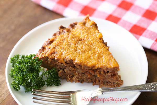 Low Carb Dinner With Ground Beef  Ground Beef Meat Pie Easy Low Carb Recipe Video