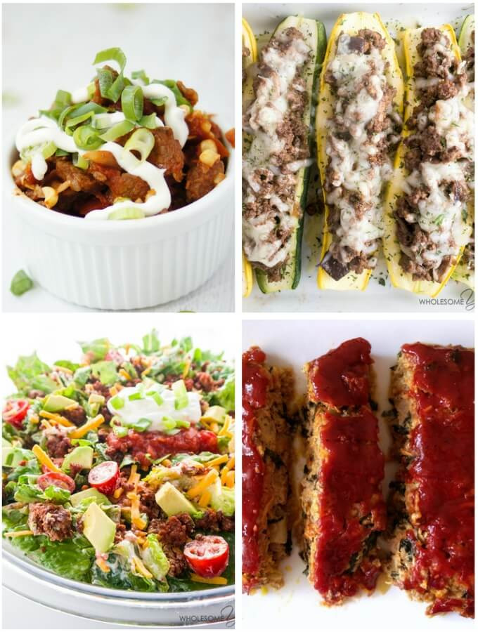 Low Carb Dinner With Ground Beef  50 Ground Beef Recipes Low Carb and Healthy Recipe Roundup
