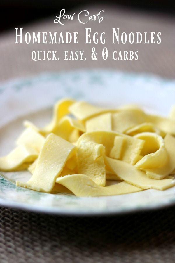 Low Carb Egg Noodles  Low Carb Egg Noodles How to Make Low Carb Pasta