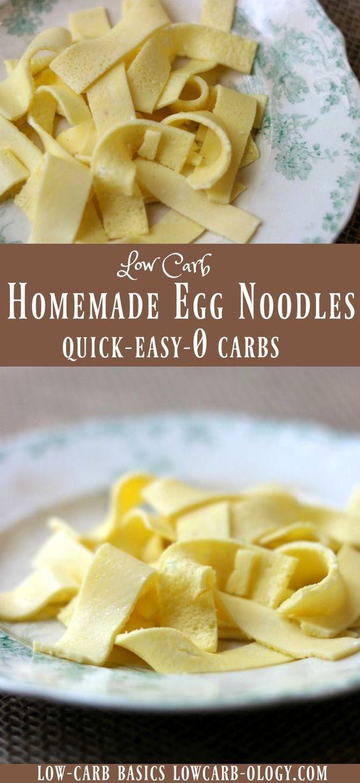 Low Carb Egg Noodles  Low Carb Egg Noodles