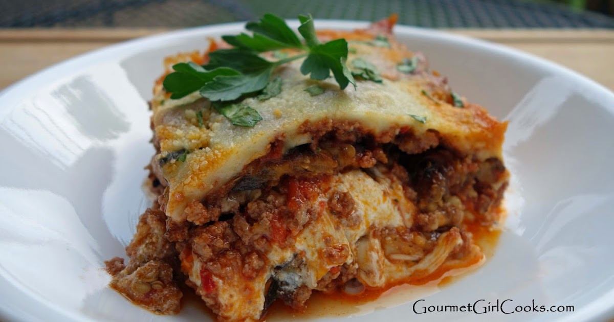Low Carb Eggplant Lasagna  Gourmet Girl Cooks Grilled Eggplant Lasagna Low Carb