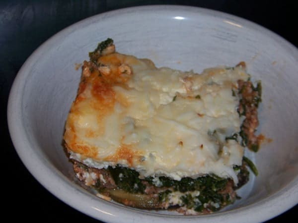 Low Carb Eggplant Lasagna  No Noodle Spinach Meat Lasagna