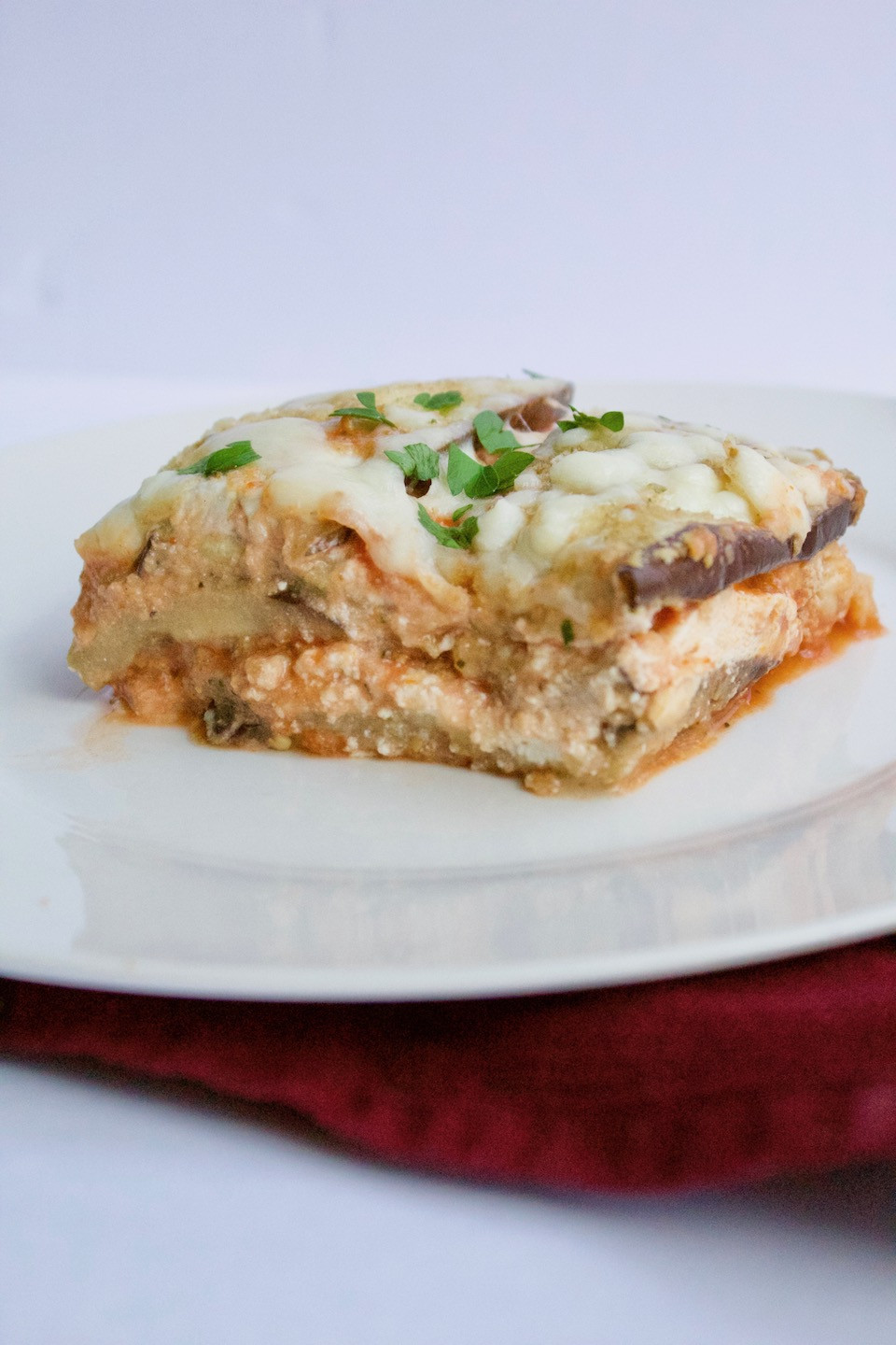 Low Carb Eggplant Lasagna  Low Carb Eggplant Parm Lasagna Sinful Nutrition