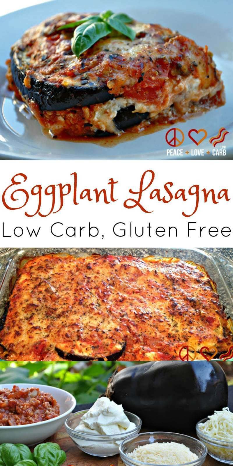 Low Carb Eggplant Lasagna  Eggplant Lasagna with Meat Sauce Low Carb Lasagna