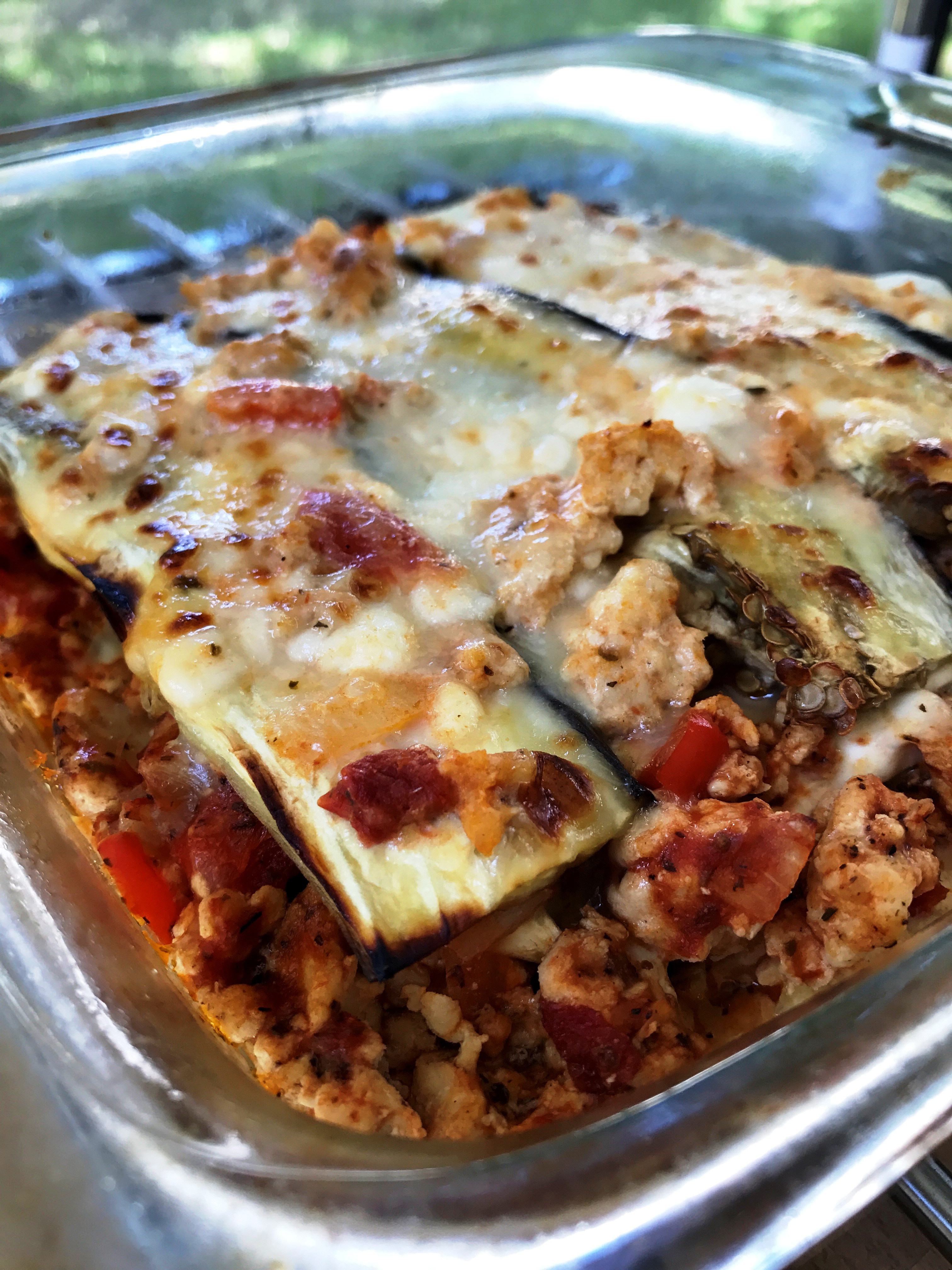 Low Carb Eggplant Lasagna  Low Carb Eggplant Lasagna 4U Fitness