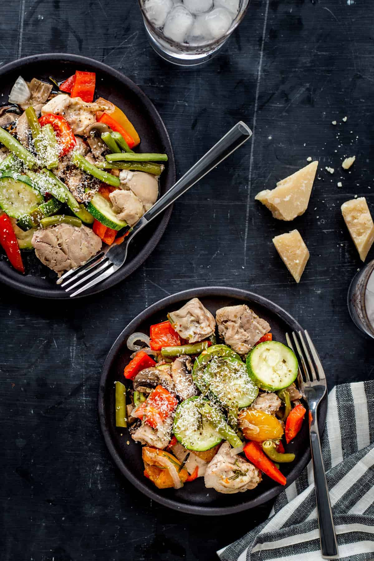 Low Carb Foil Packet Dinners  Italian Chicken and Veggie Foil Packets from Easy Keto