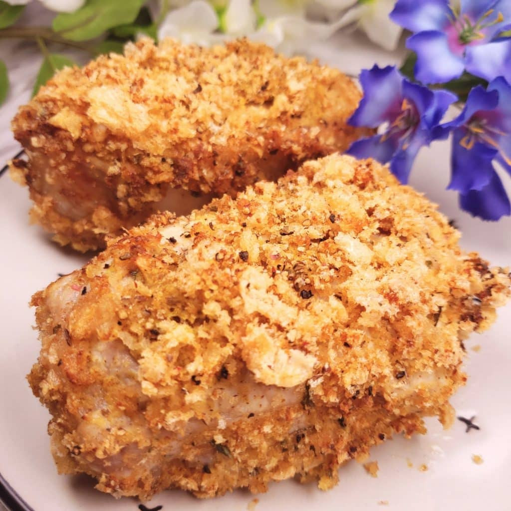 Low Carb Fried Pork Chops  Low Carb Breaded Pork Chops in the Air Fryer