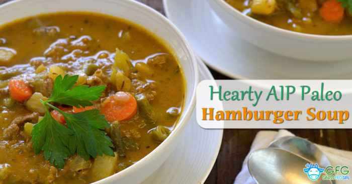 Low Carb Ground Beef Soup  Hearty Low Carb AIP Paleo Ve able Hamburger ground beef