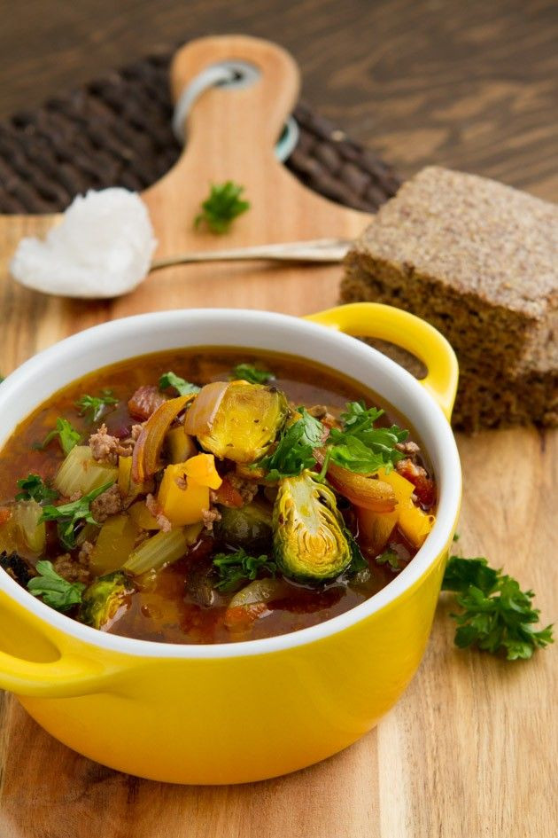 Low Carb Ground Beef Soup  Fat Bomb Hamburger Soup