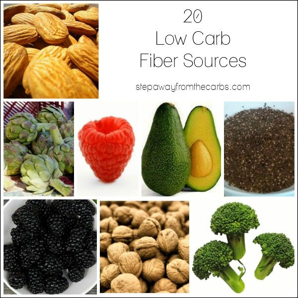 Low Carb High Fiber Recipes  20 Low Carb Fiber Sources Step Away From The Carbs