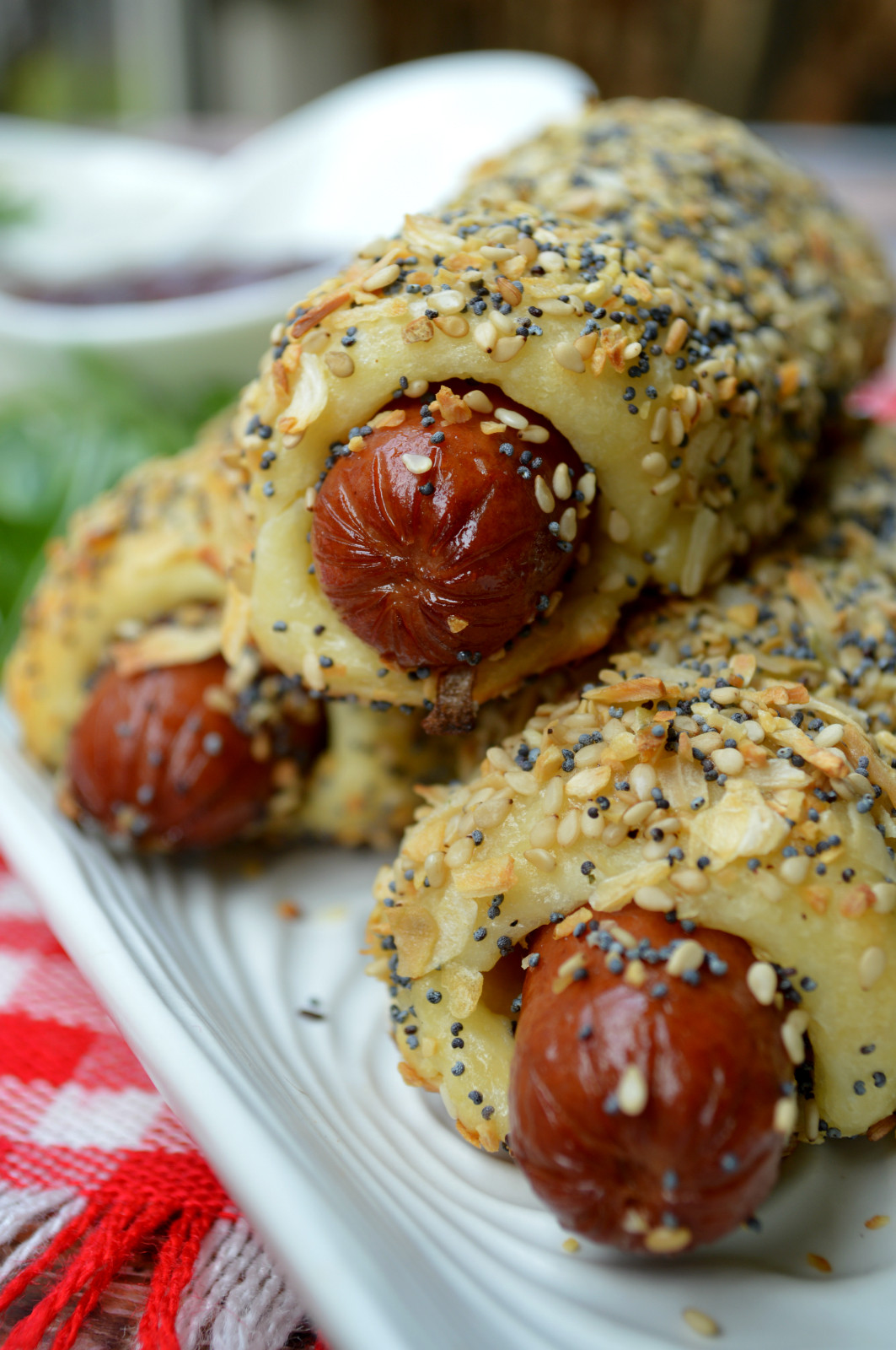 Low Carb Hot Dog Recipes  Everything Bagel Dogs
