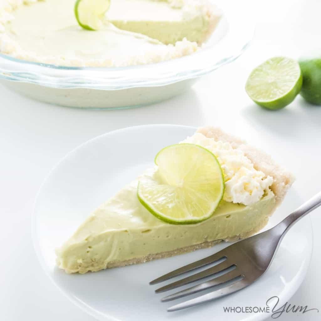 Low Carb Key Lime Pie  Easy No Bake Key Lime Pie Low Carb Gluten free