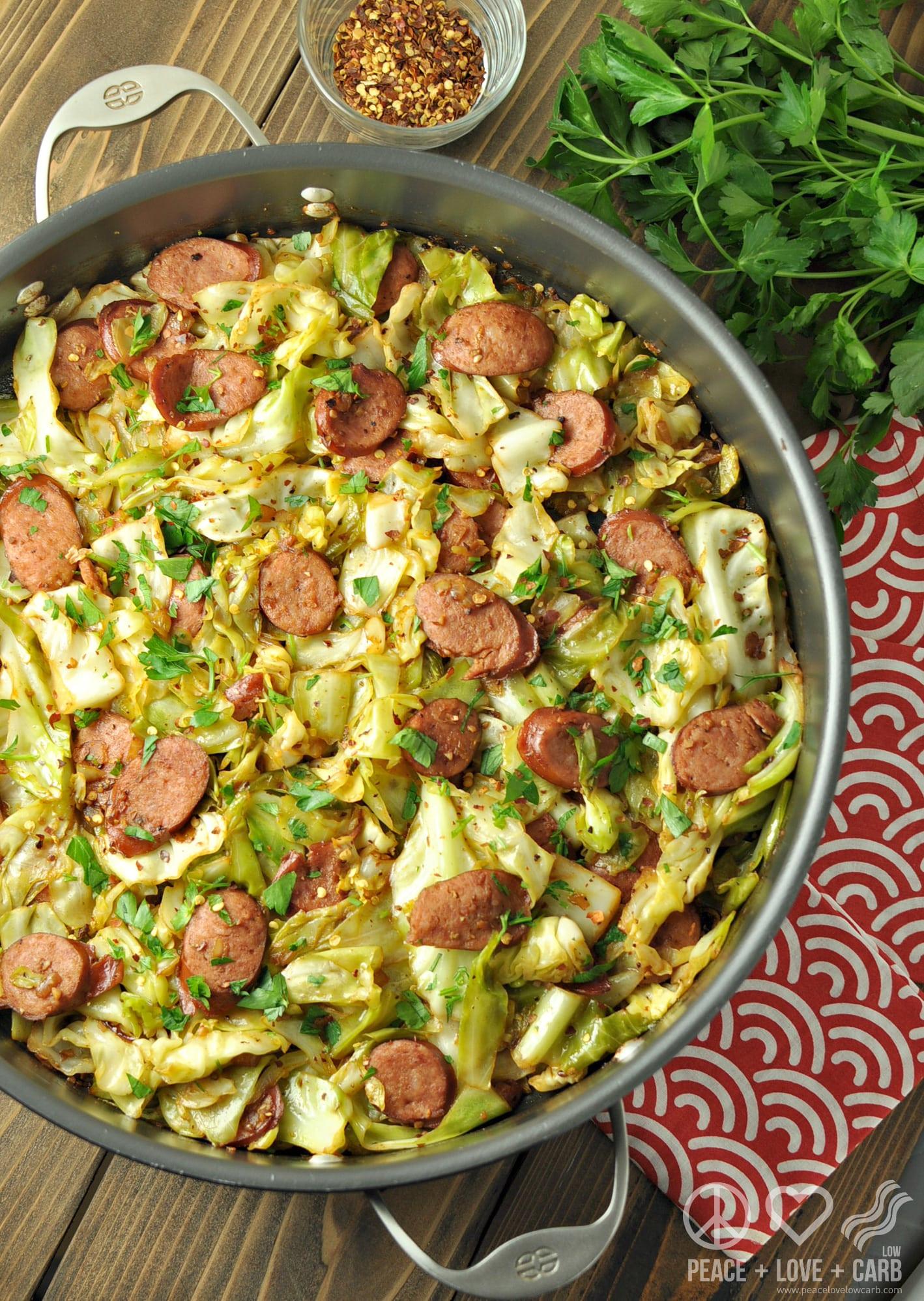 Low Carb Kielbasa Recipes  Fried Cabbage with Kielbasa Low Carb Paleo Gluten Free