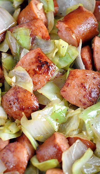 Low Carb Kielbasa Recipes  Low carb cabbage recipes Kielbasa and Cabbage Skillet