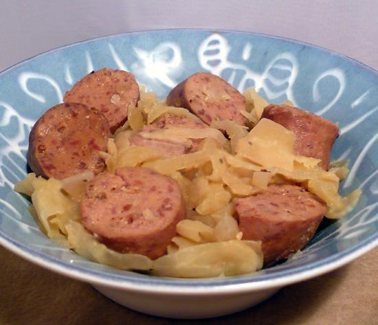 Low Carb Kielbasa Recipes  Kielbasa Cabbage and ions Low Carb Slow Cooker Crock