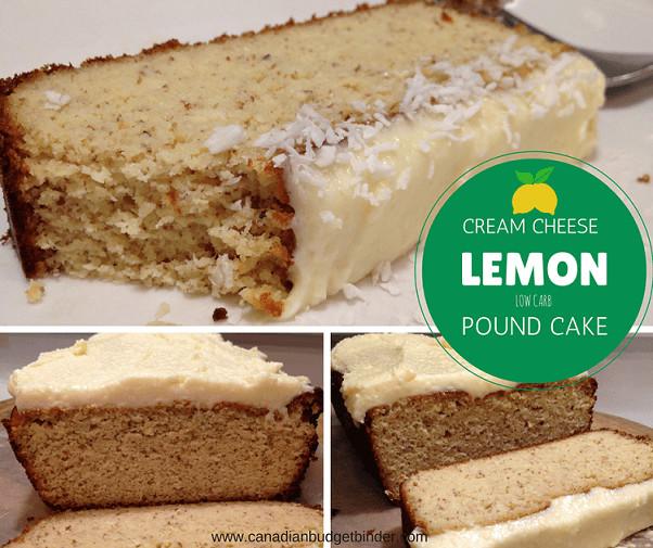 Low Carb Lemon Pound Cake  Low Carb LCHF Cream Cheese Lemon Pound Cake Canadian