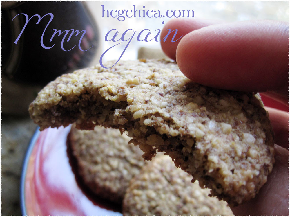 Low Carb Low Sugar Cookies  HCG Diet Recipe Flaxseed Almond Flour Cookies