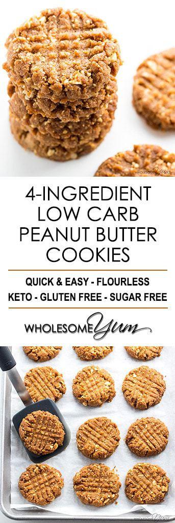 Low Carb Low Sugar Cookies  Sugar Free Low Carb Peanut Butter Cookies Recipe 4