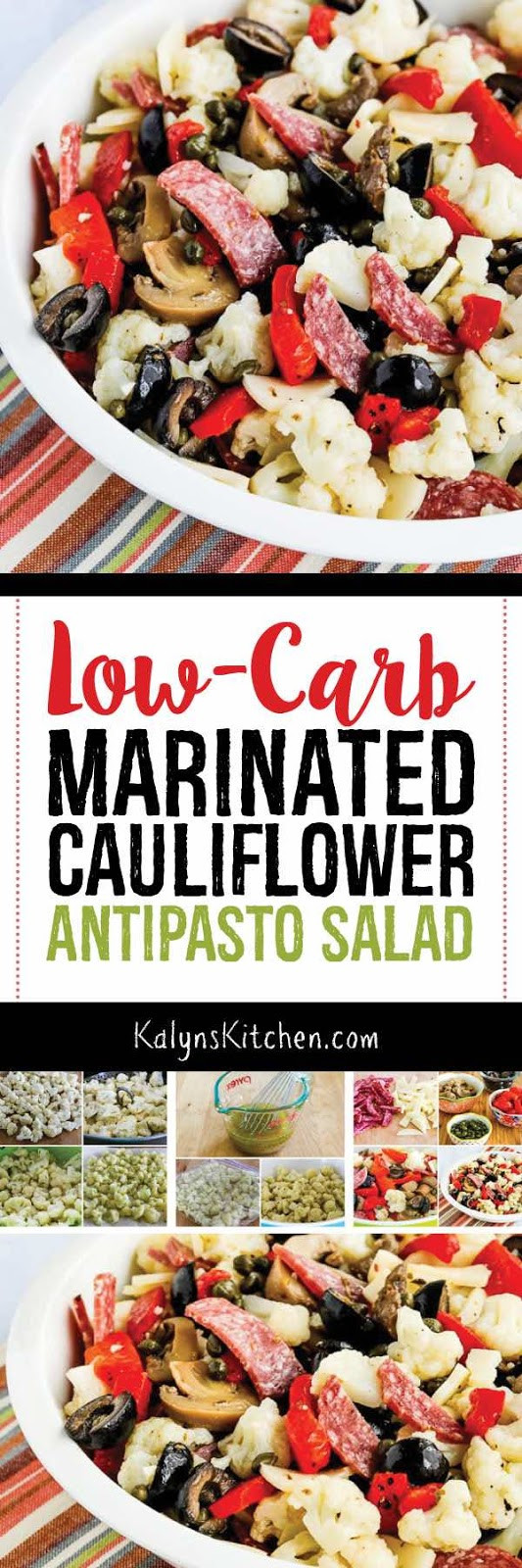 Low Carb Marinades  Low Carb Marinated Cauliflower Antipasto Salad Kalyn s