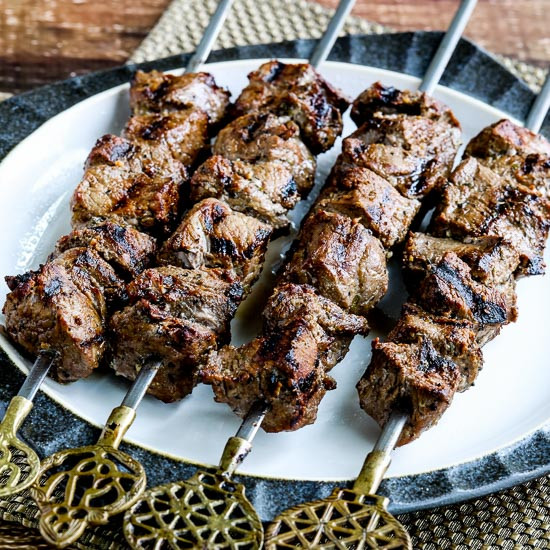 Low Carb Marinades  Kalyn s Kitchen Low Carb Marinated Beef Kabobs