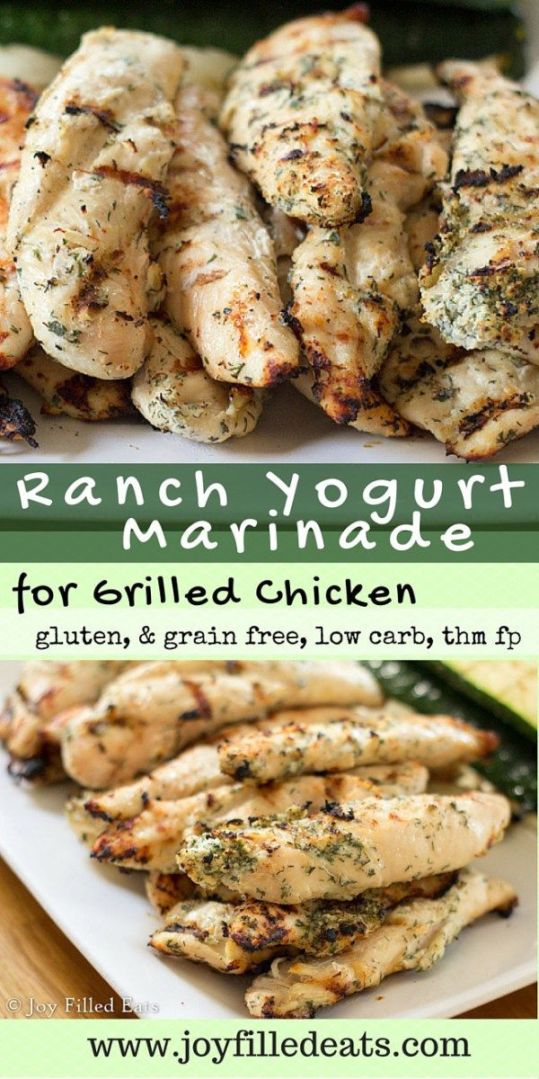 Low Carb Marinades  Ranch Yogurt Marinade for Grilled Chicken Recipe
