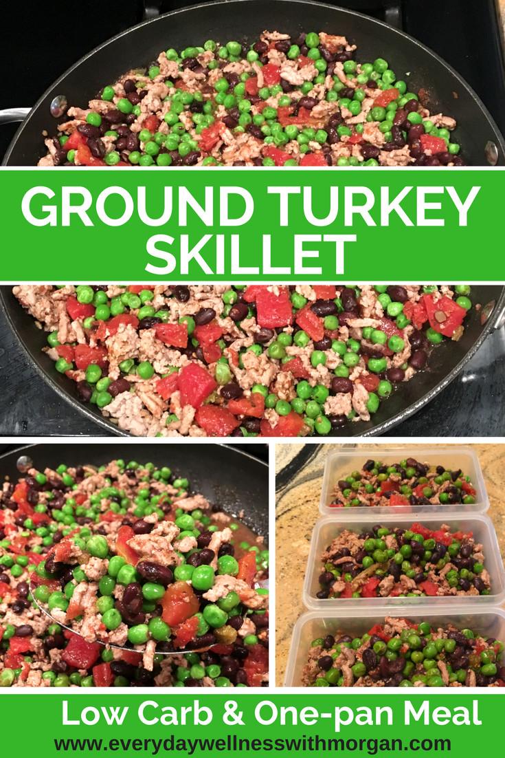 Low Carb Meals With Ground Turkey  Low Carb Ground Turkey Skillet Everyday Wellness