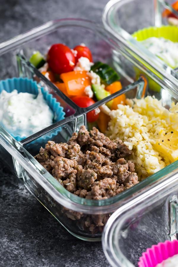 Low Carb Meals With Ground Turkey  Low Carb Greek Turkey Meal Prep