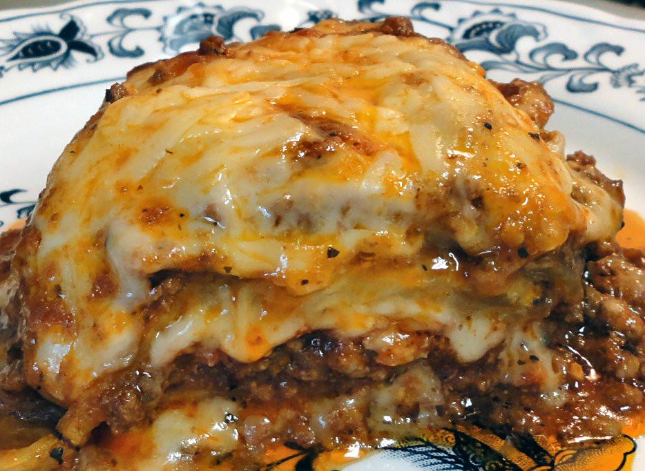 Low Carb Meat Recipes  MEATY EGGPLANT LASAGNA Linda s Low Carb Menus & Recipes