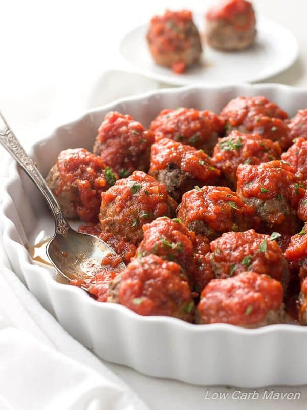 Low Carb Meatball Recipes  Mom s Low Carb Meatballs Recipe Italian Style keto