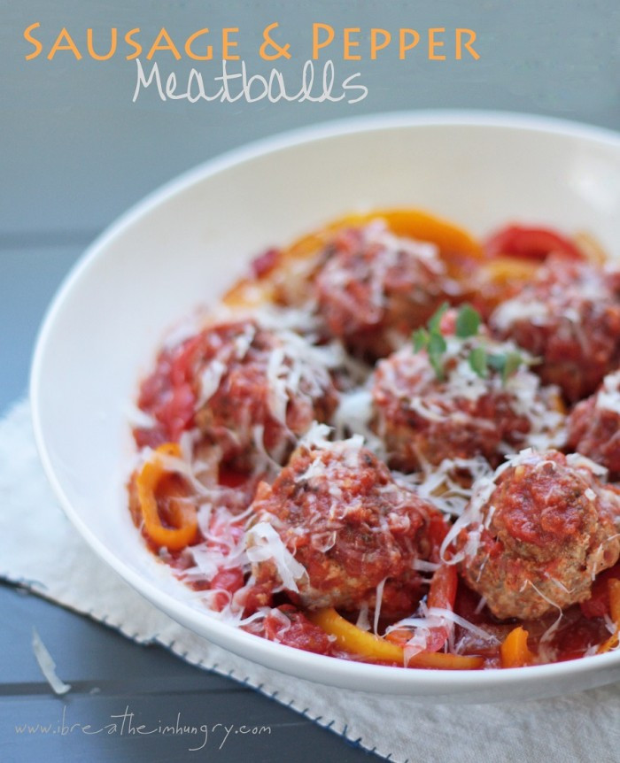 Low Carb Meatball Recipes  Sausage and Peppers Meatball Recipe Low Carb and Gluten