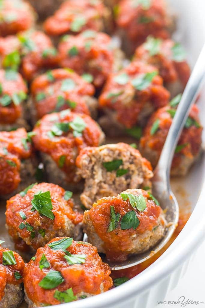 Low Carb Meatball Recipes  Low Carb Meatballs Recipe Italian Style Keto Gluten