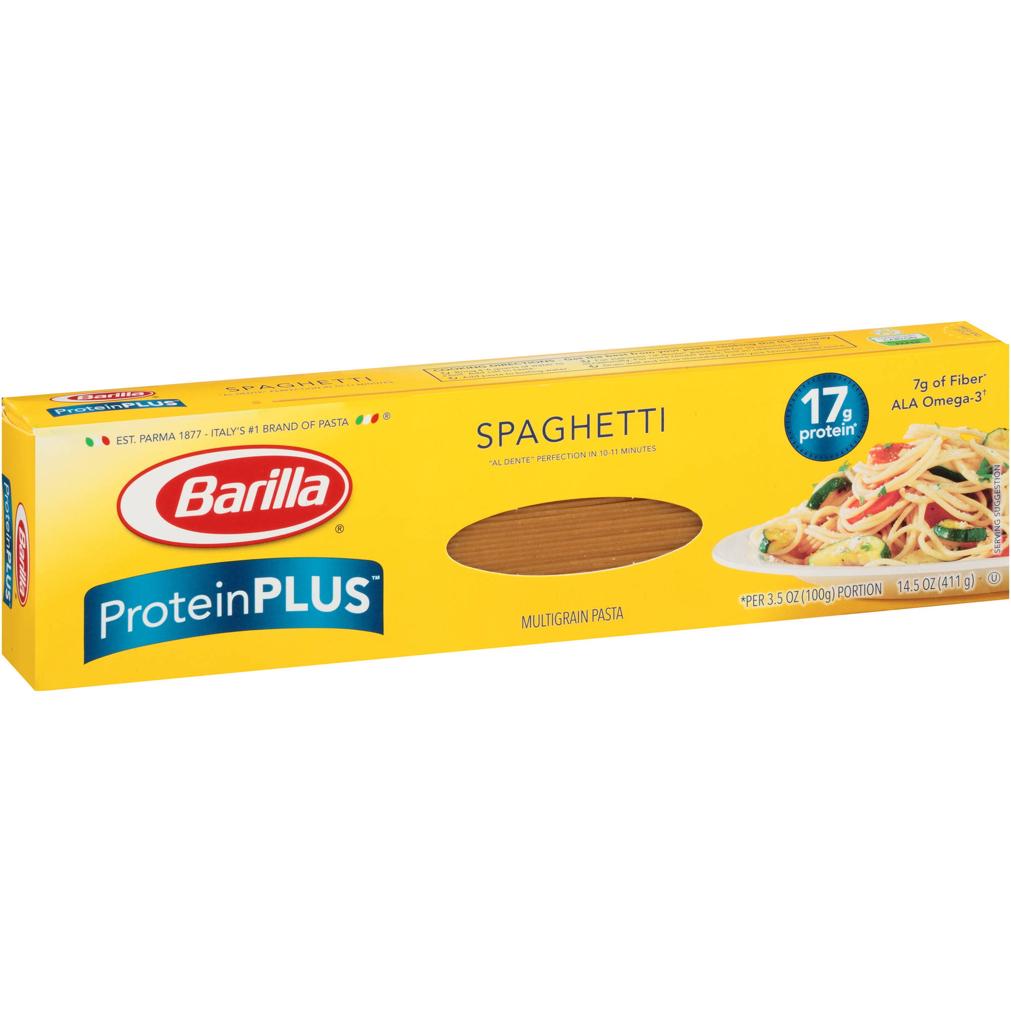 Low Carb Noodles Walmart  Barilla Protein Plus Thin Spaghetti Multigrain Pasta 14 5