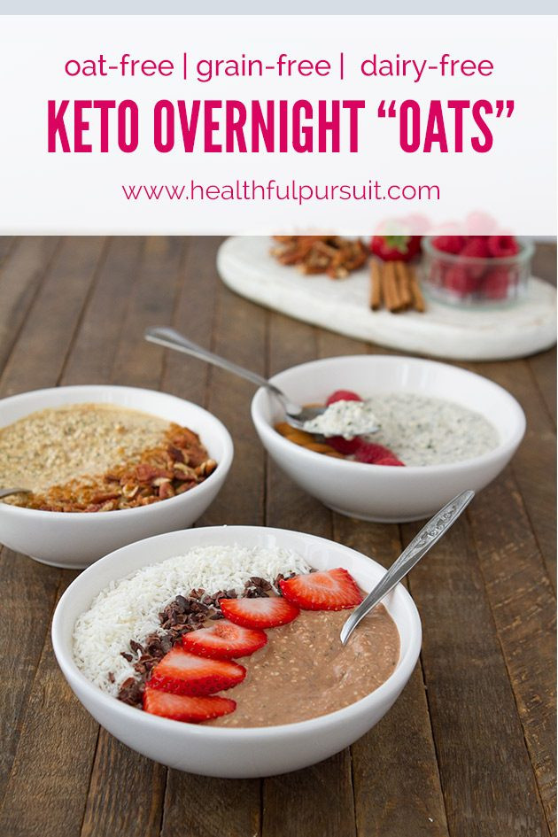 "Low Carb Oats  Keto Overnight ""Oats"" 3 Flavors oat free paleo sugar"