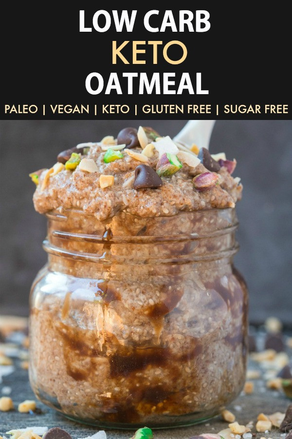 Low Carb Oats  Low Carb Keto Overnight Oatmeal Paleo Vegan