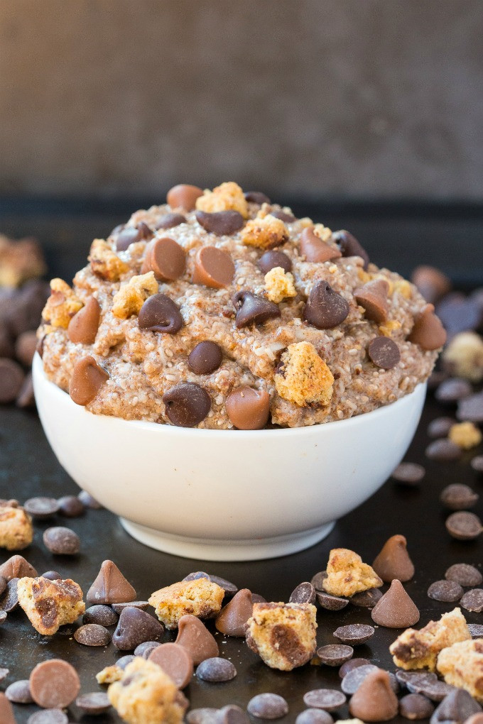 Low Carb Oats  Healthy Low Carb Keto Chocolate Chip Cookie Dough Oatmeal