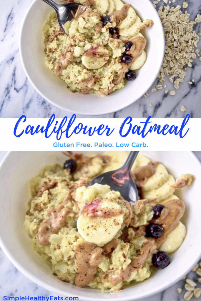 Low Carb Oats  Healthy Oatmeal Low Carb Cauliflower Oats Simple