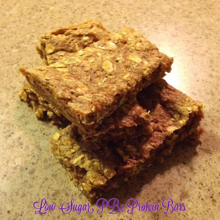 Low Carb Pb2 Recipes  Low Sugar PB2 Protein Bars Recipe