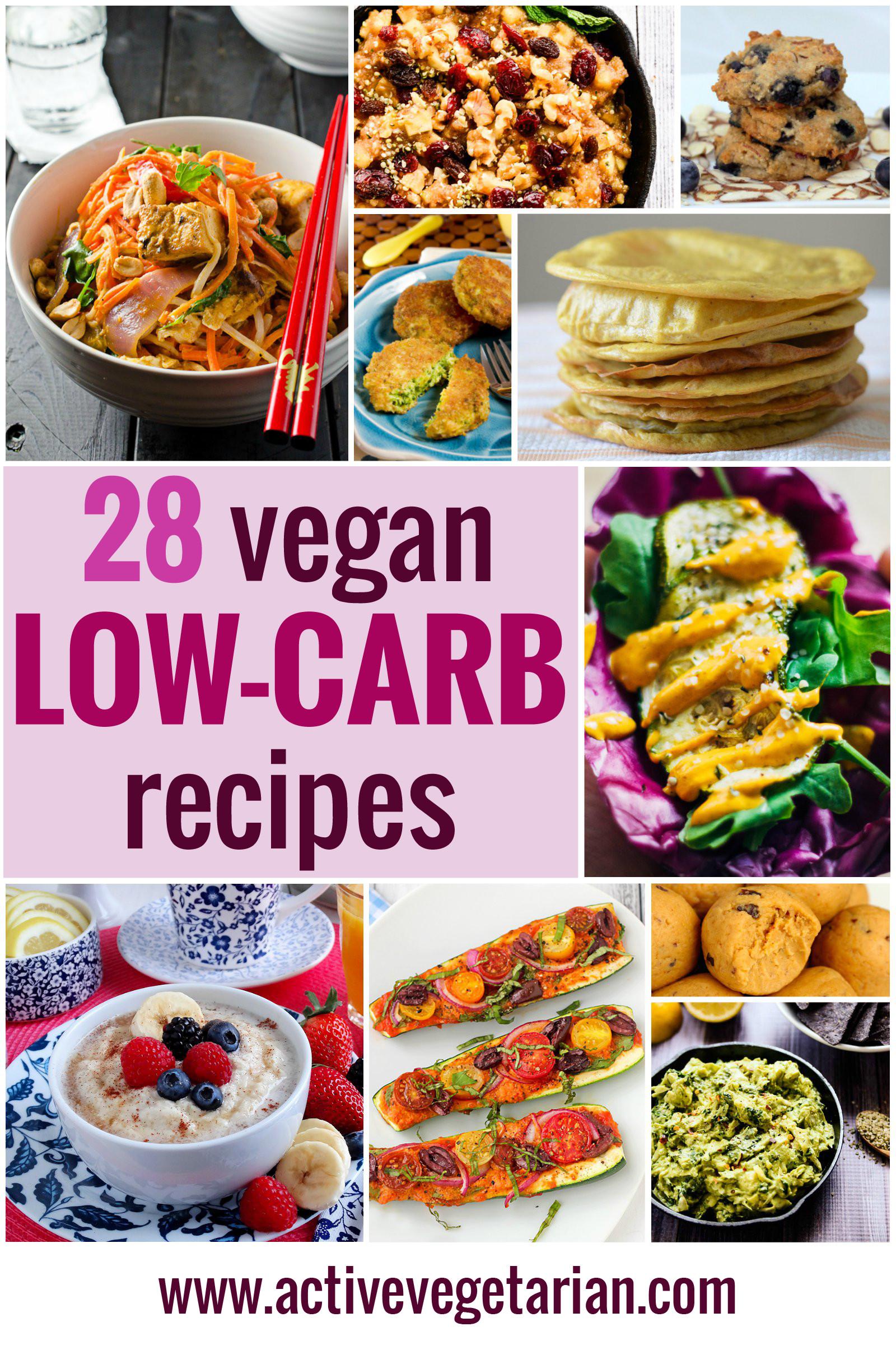 Low Carb Recipes Vegetarian  Recipe Round Up – 28 Low Carb Vegan Recipes