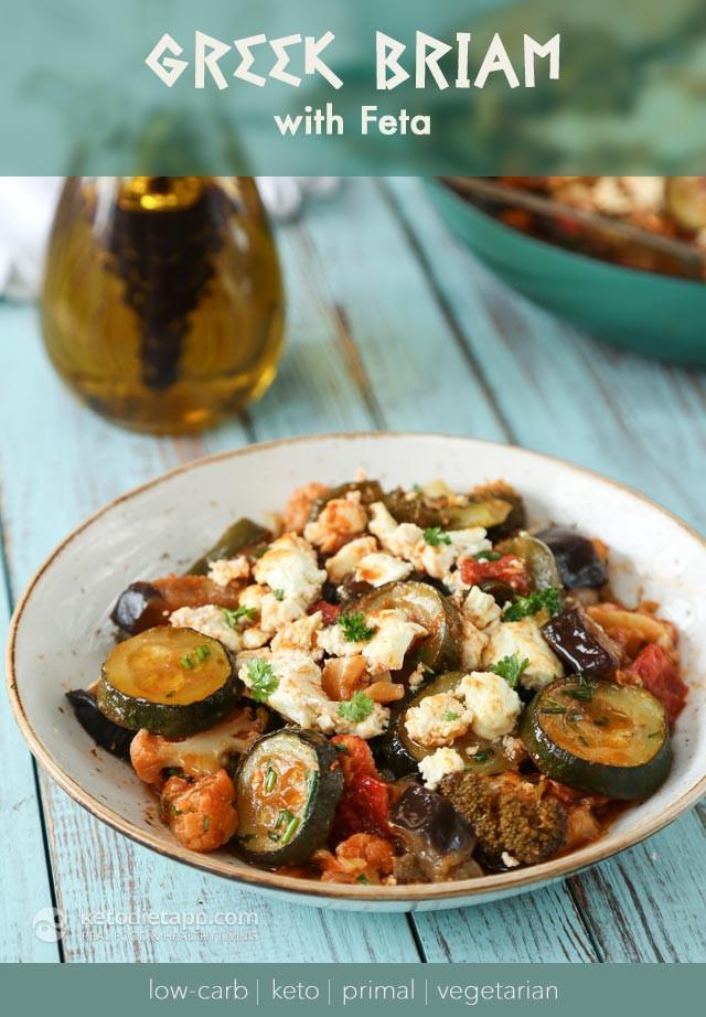 Low Carb Recipes Vegetarian  Low Carb Ve arian Greek Briam