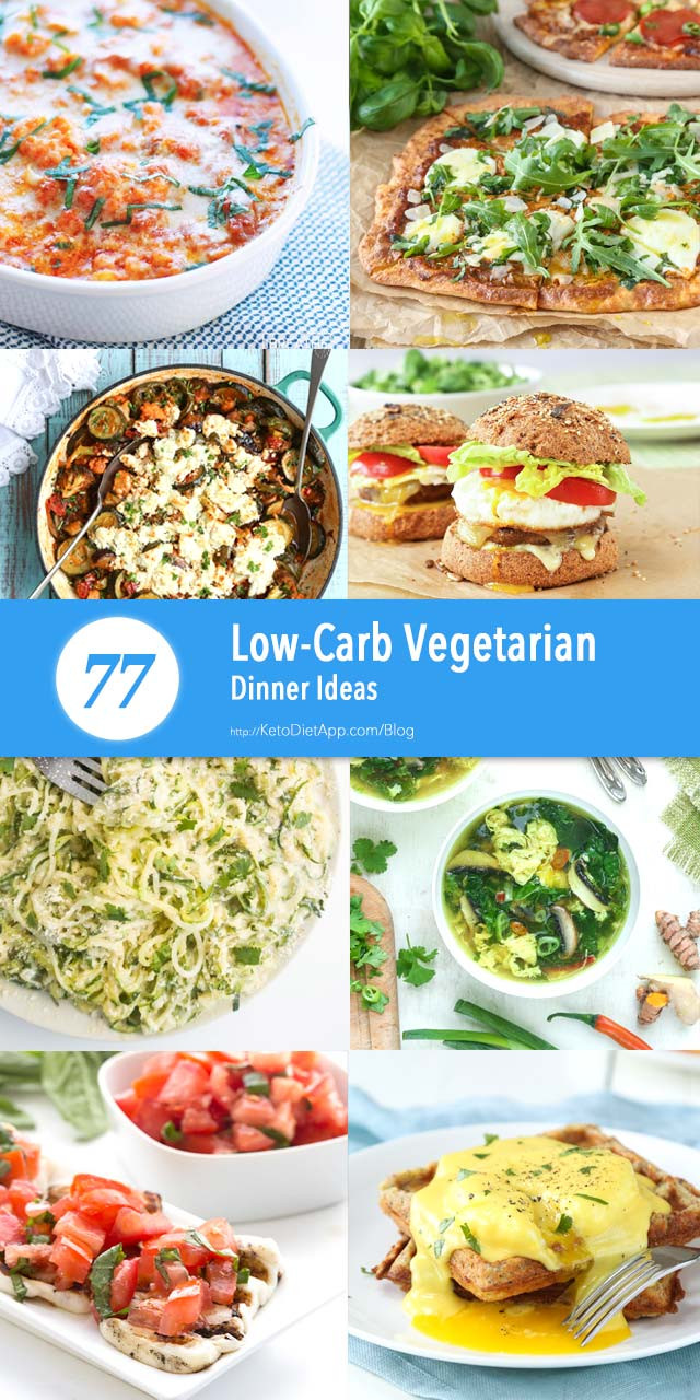 Low Carb Recipes Vegetarian  77 Low Carb Ve arian Dinner Ideas